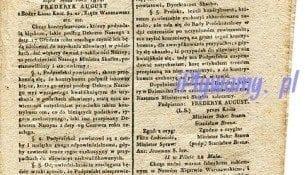 Gazeta Warszawska 1811 rok plywanie