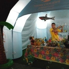 Impreza hawajska w Termach Cieplickich 23.08.2014