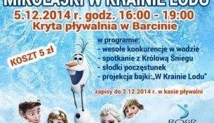 Mikołajki w Krainie Lodu - basen Barcin