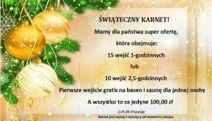 Świąteczny Karnet - Park Wodny Jan Darłówko