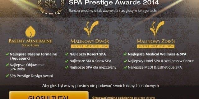 SPA Prestige Awards 2014 - konkurs!