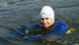 Pokonać Jeziorak - pierwsze pływackie wyzwanie Tomasza Chwaliszewskiego