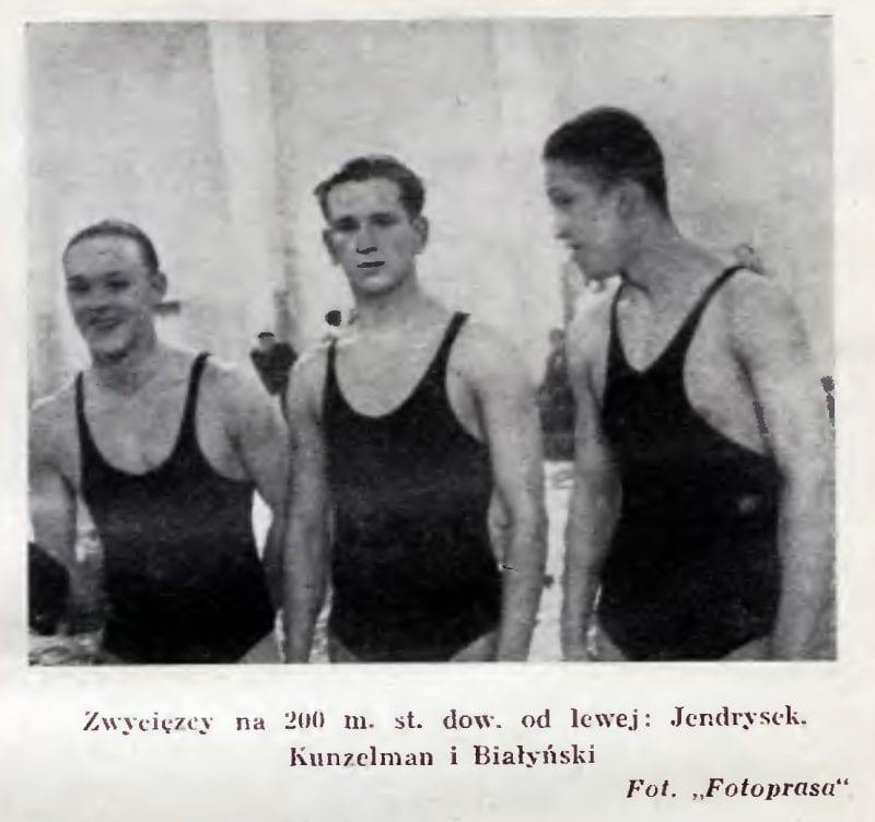Mistrzostwa pływackie Hali Krytej - 1939r
