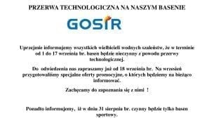 Basen Gniezno Przerwa Technologiczna