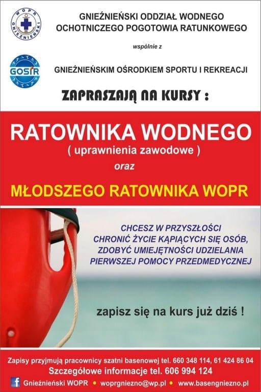 Kursy ratownicze - basen Gniezno
