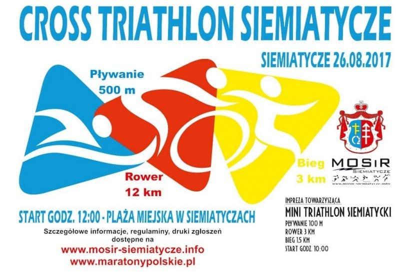 Cross Triathlon Siemiatycze i Mini Triathlon Siemiatycki 2017