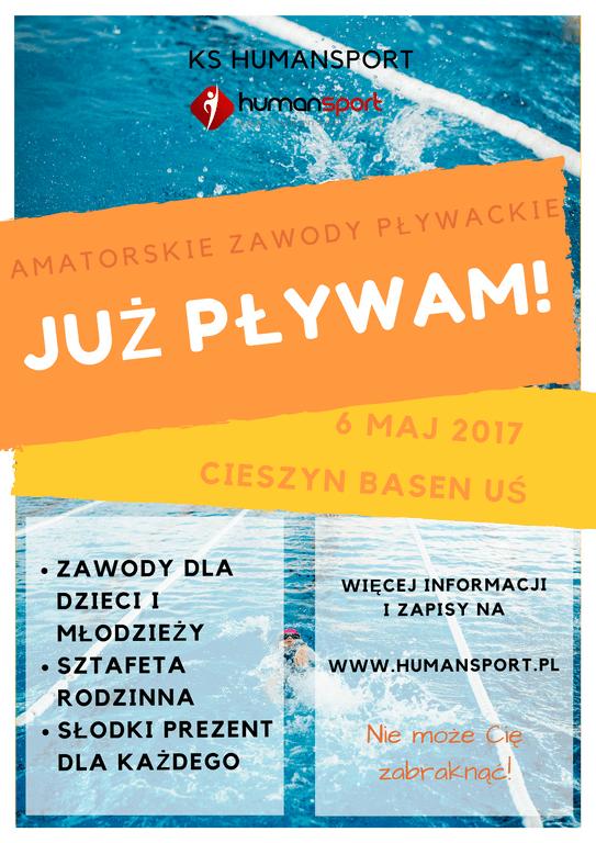 """Amatorskie Zawody Pływackie """"Już Pływam"""" - Cieszyn"""