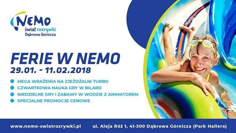 Nie daj się nudzie i spędź ferie w Nemo! - Dąbrowa Górnicza