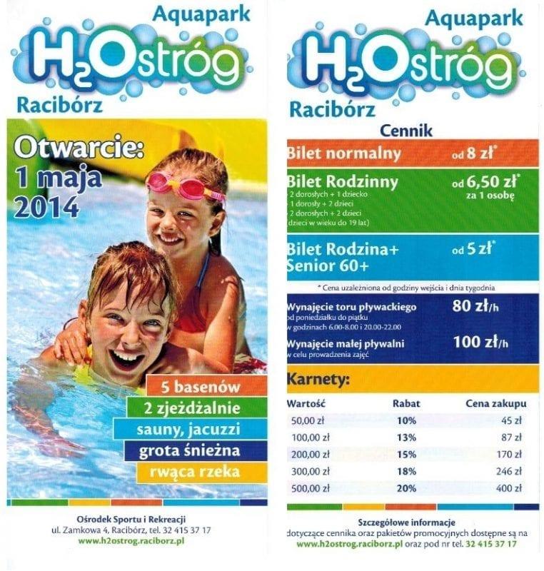 Ile będzie kosztował wstęp na pływalnię H2Ostróg?