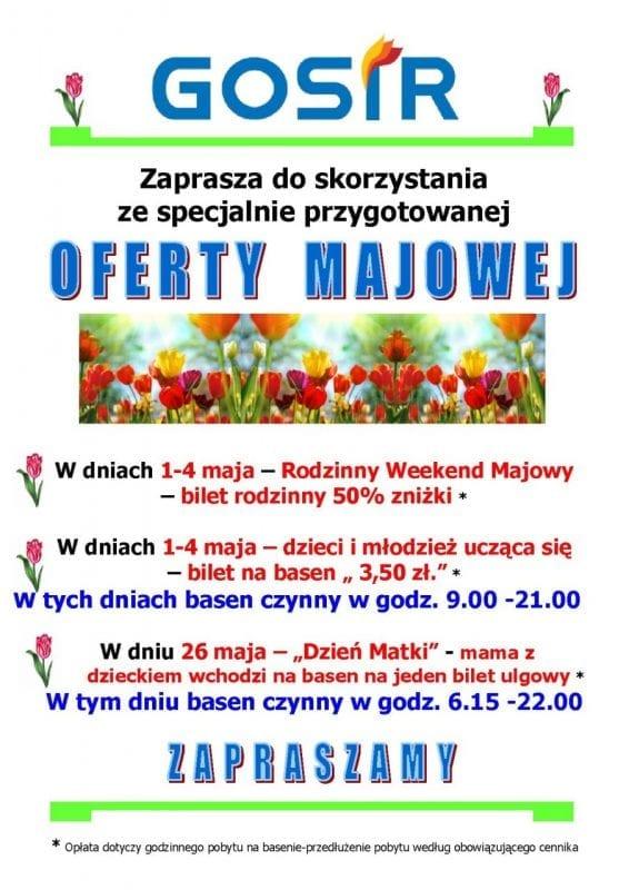 Majowe promocje na basenie w Gnieźnie