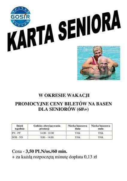 Karta Seniora – basen Gniezno