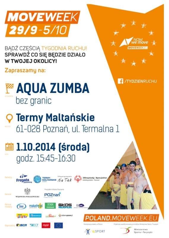 Tydzień Ruchu: aqua zumba bez granic - Fregata Swimming&Termy Maltańskie