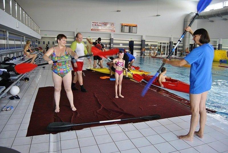 Lekcją kajakarstwa pożegnano wakacje w H2Ostróg