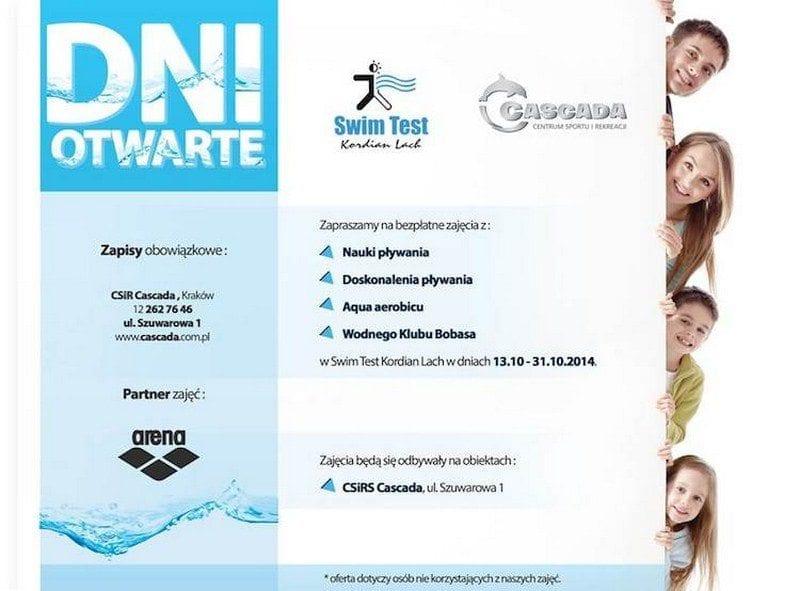 Dni otwarte Swim Test Kordian Lach - CSiR Cascada Kraków