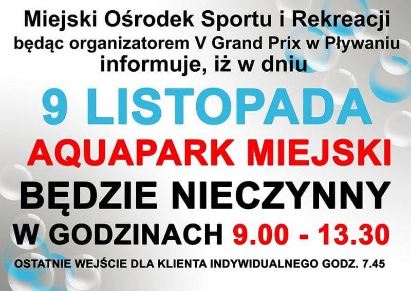 Aquapark Mińsk Mazowiecki Listopad