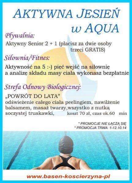 Aktywna jesień w Aqua - Basen Kościerzyna