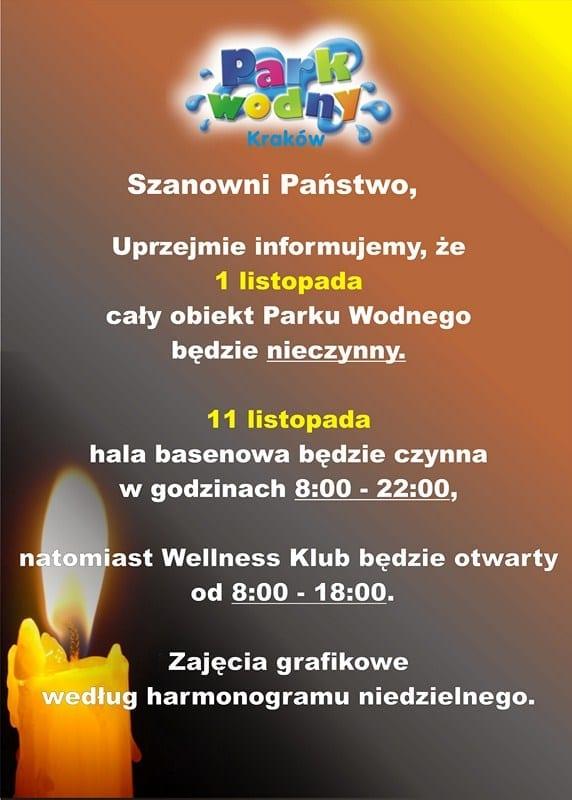 1 listopada - Park Wodny Kraków