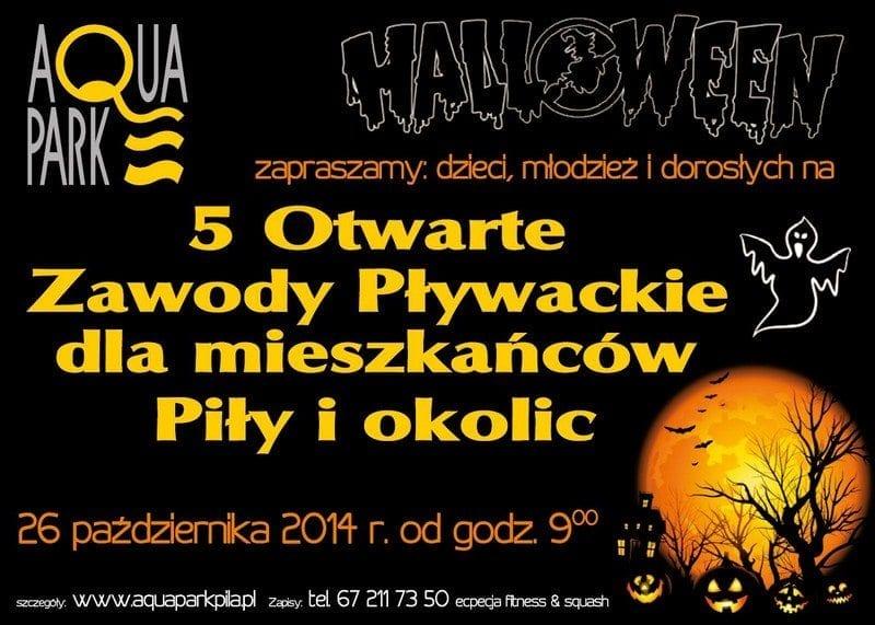 Halloween - V Otwarte Zawody Pływackie - Aquapark Piła