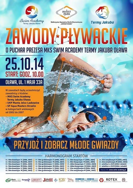 Zawody pływackie o puchar Prezesa MKS Swim Academy Termy Jakuba Oława