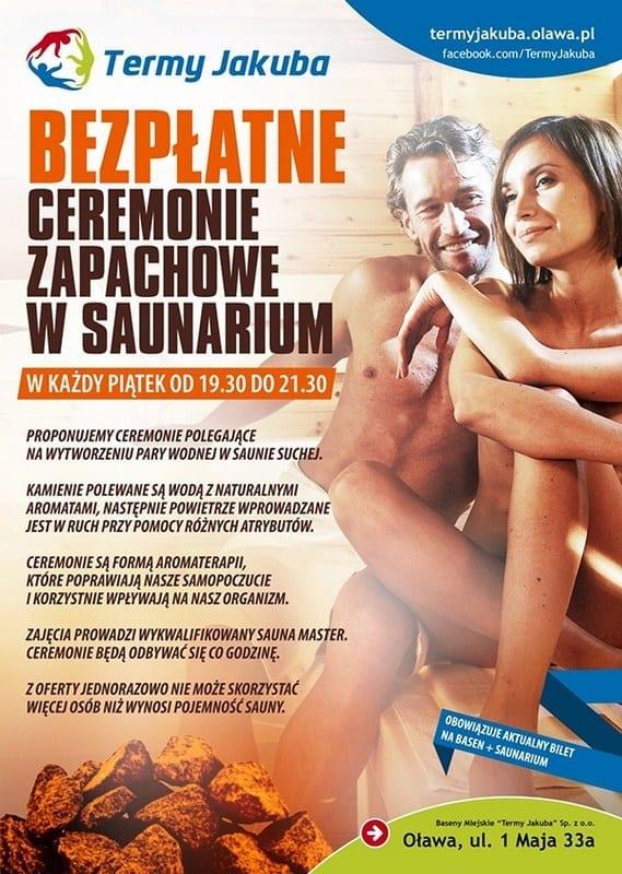 Bezpłatne ceremonie zapachowe w saunarium – Termy Jakuba