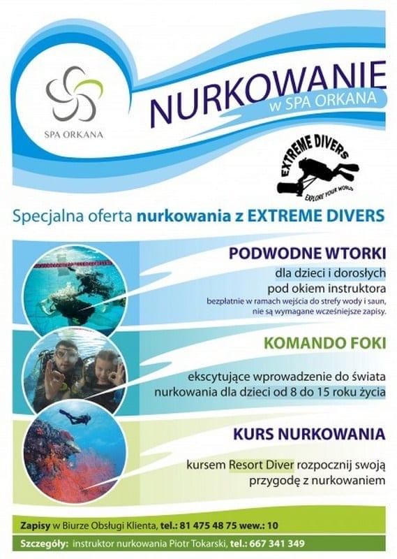 Nurkowanie w SPA Orkana – Lublin