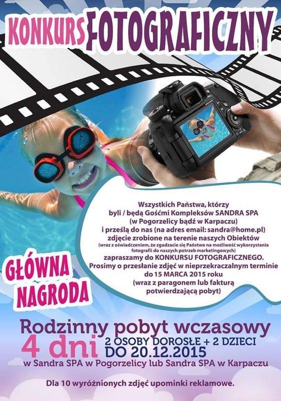 III Edycja Konkursu Fotograficznego Sandra SPA 2014/2015