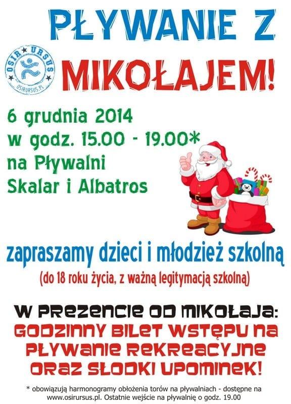 Pływanie z Mikołajem - Baseny Skalar i Albatros Warszawa