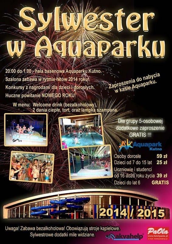 Sylwester w Aquaparku - Aquapark Kutno