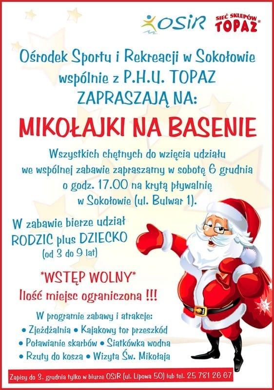 Mikołajki na basenie - OSiR Sokołów Podlaski