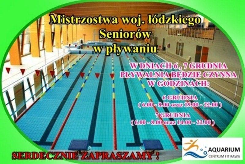 Mistrzostwa woj. łódzkiego Seniorów w pływaniu - Aquarium Rawa