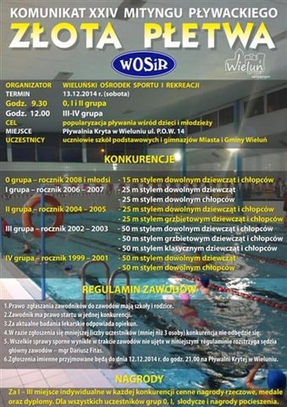MXXIV Mityng Pływacki Złota Płetwa - Wieluń