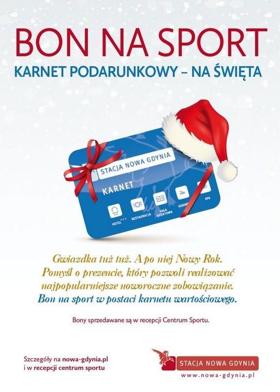 Bon na sport - karnet podarunkowy na święta - Stacja Nowa Gdynia