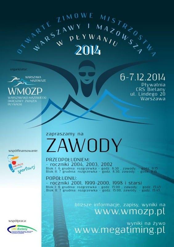 Otwarte Zimowe Mistrzostwa Warszawy i Mazowsza w Pływaniu 2014