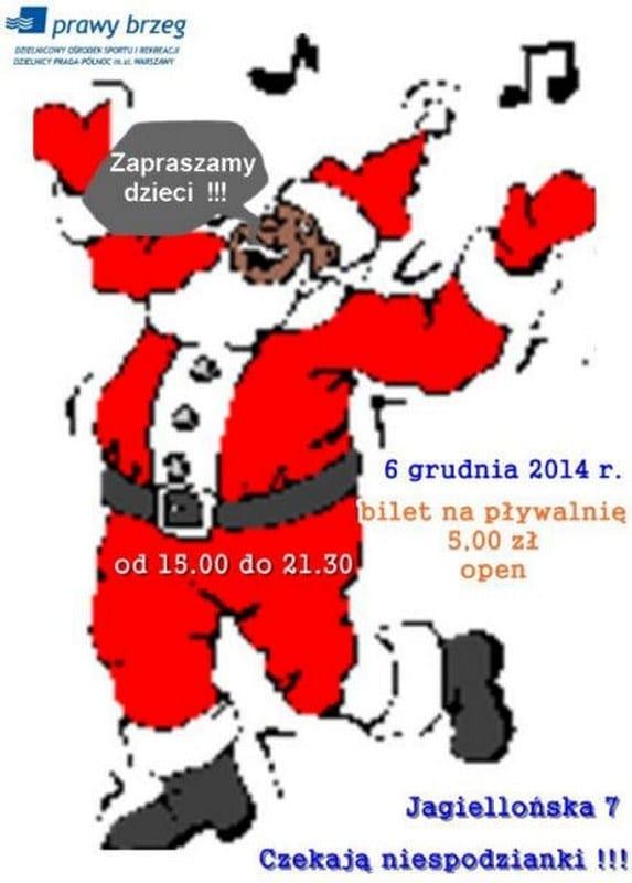 Mikołajki na basenie Prawy Brzeg - Warszawa