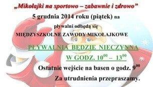 Mikołajki na sportowo - zabawnie i zdrowo - basen Mielec