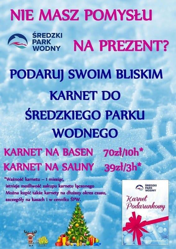 Karnet na prezent świąteczny - Średzki Park Wodny