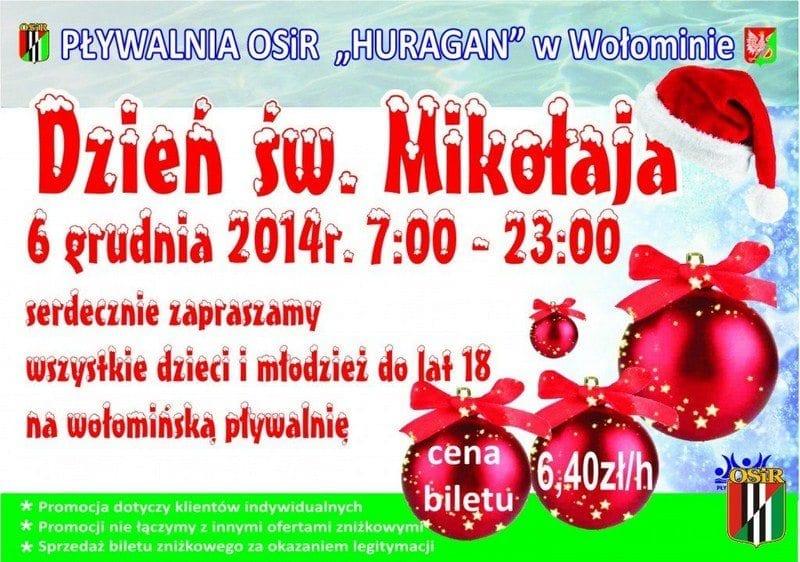 Dzień Św. Mikołaja - Pływalnia OSiR Huragan w Wołominie