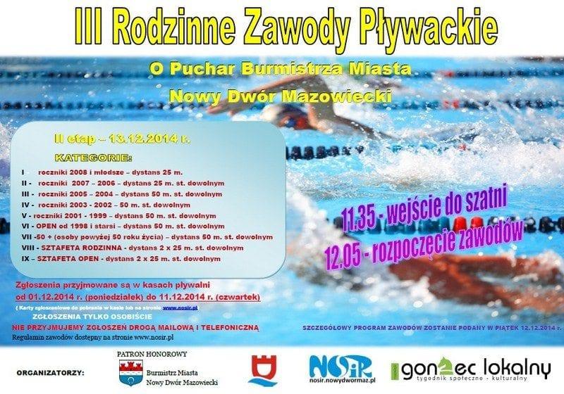 III Rodzinne Zawody Pływackie - Nowy Dwór Mazowiecki