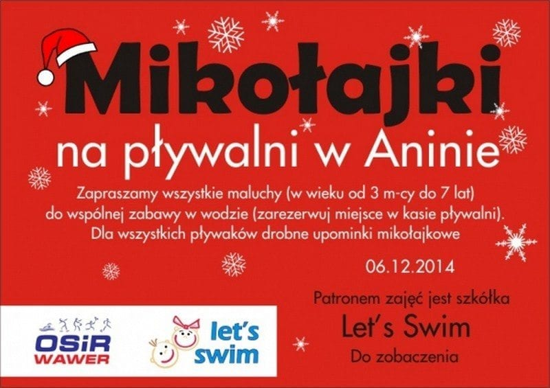 Mikołajki na pływalni w Aninie - Warszawa