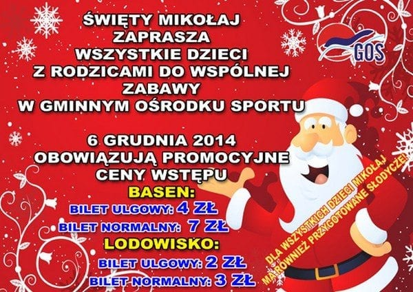 Mikołajki w Gminnym Ośrodku Sportu Pawłowice