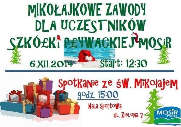 Mikołajkowe zawody dla uczestników szkółki pływackiej MOSiR w Żywcu