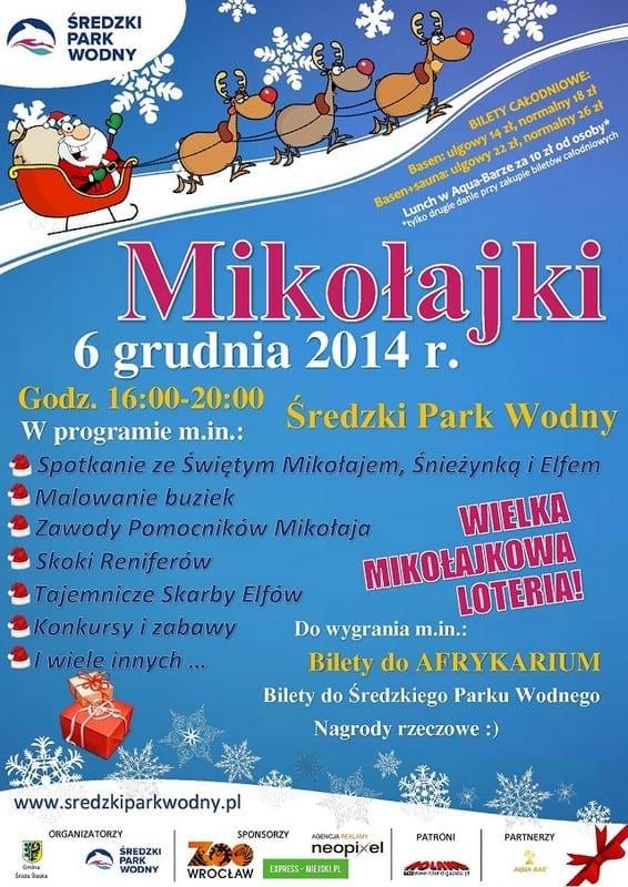 Mikołajki na basenie - Średzki Park Wodny