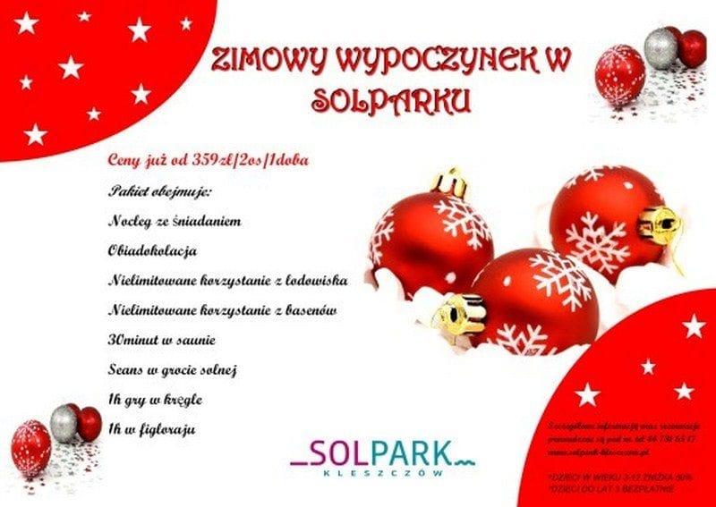 Zimowy wypoczynek w Solparku - Kleszczów