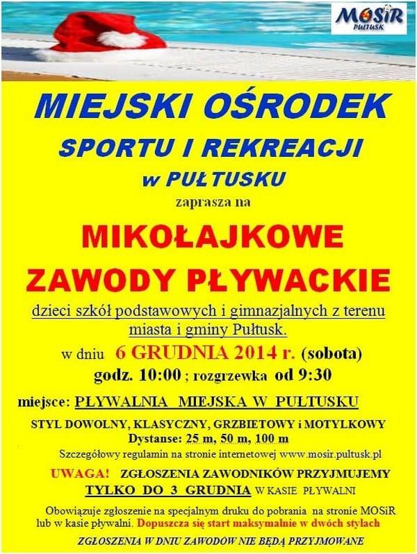 Mikołajkowe Zawody Pływackie w Pułtusku