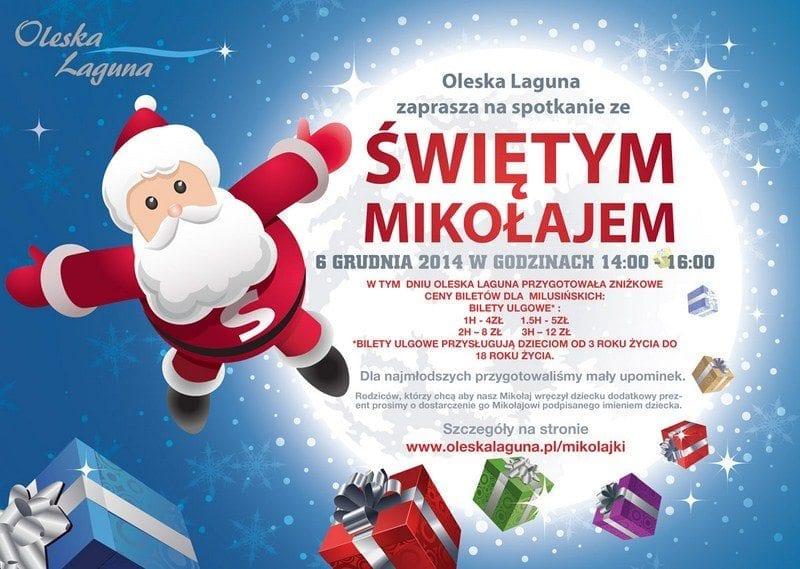 Oleska Laguna zaprasza na spotkanie ze Świętym Mikołajem