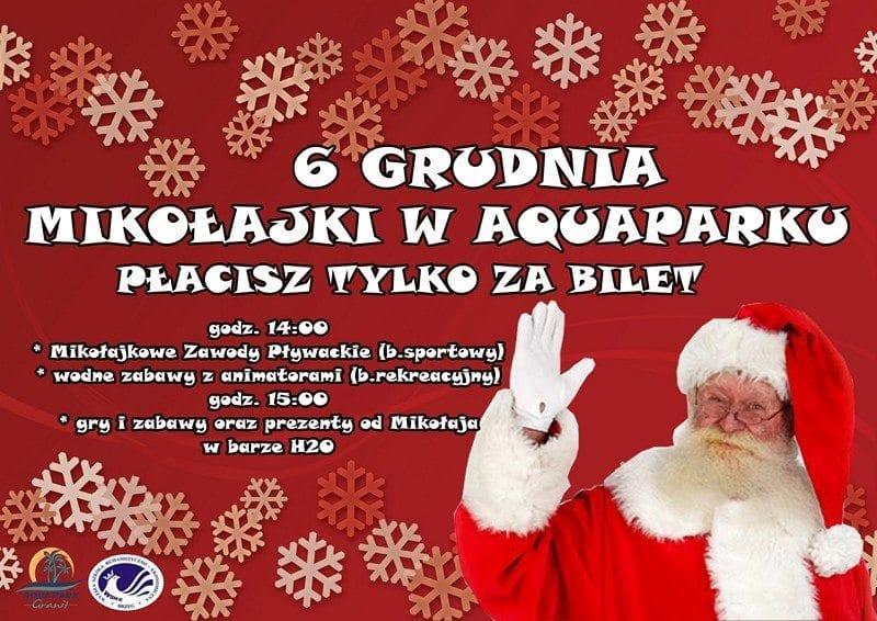 Mikołajki w Aquaparku Granit - Strzelin