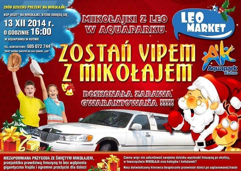 Zostań VIPEM z Mikołajem - Aquapark Kutno