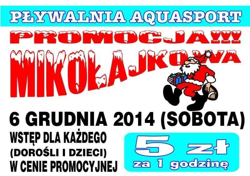 Promocja Mikołajkowa - Pływalnia Aquasport Brzeg Dolny