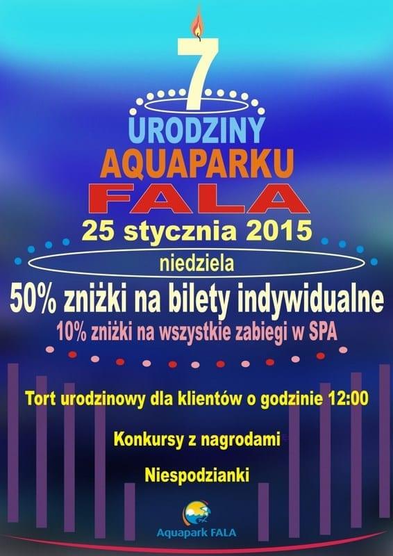 7 urodziny Aquaparku Fala w Łodzi