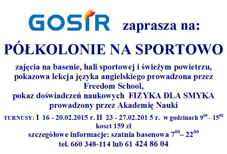 Połkolonie na sportowo - GOSiR Gniezno